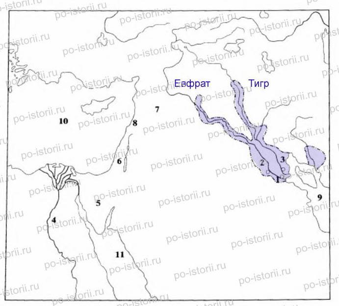 Как правильно выполнить контурную карту по истории 5 класс передняя азия